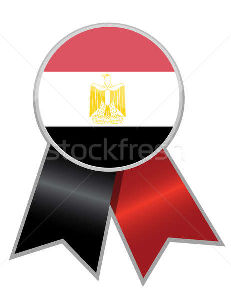 egypt ribbon isolated over a white background Stock photo © alexmillos