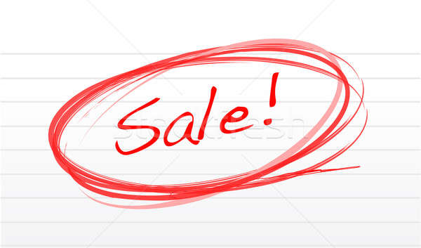 Scribble word sale on a notepad paper illustration design Stock photo © alexmillos
