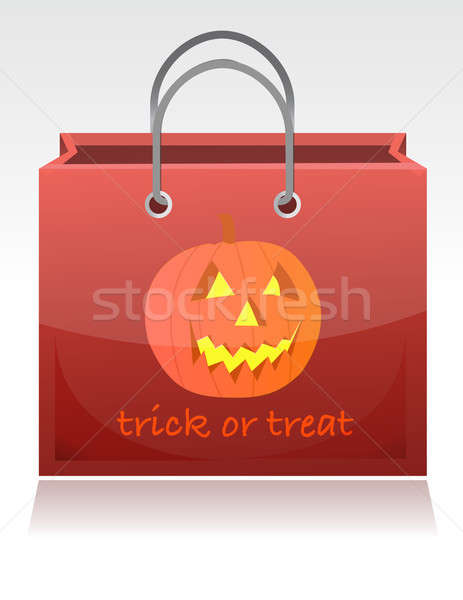 Halloween trick or treat bag illustration design Stock photo © alexmillos