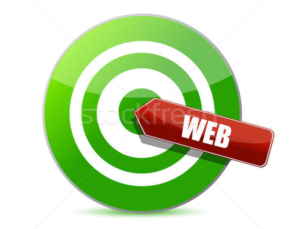 target the web illustration design over a white background Stock photo © alexmillos