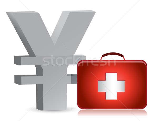 Yen tıbbi örnek dizayn beyaz Stok fotoğraf © alexmillos