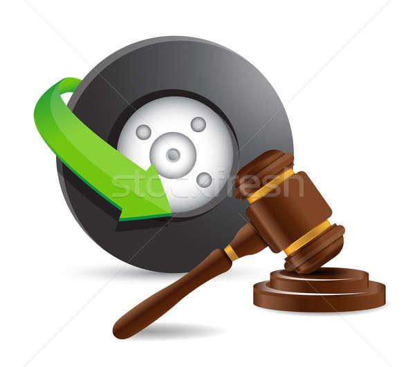 Incidente avvocato illustrazione design bianco legge Foto d'archivio © alexmillos