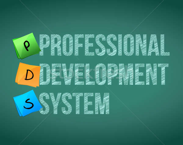 professional development system and posts on a blackboard Stock photo © alexmillos