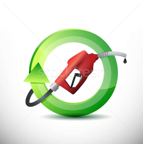 Natural rotating with a gas pump nozzle Stock photo © alexmillos