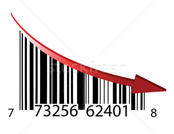 fail bar code illustration design over a white background Stock photo © alexmillos
