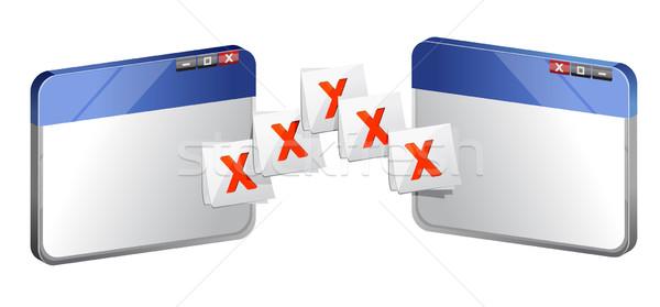 Dosya pencere bar başarı yazılım düğme Stok fotoğraf © alexmillos
