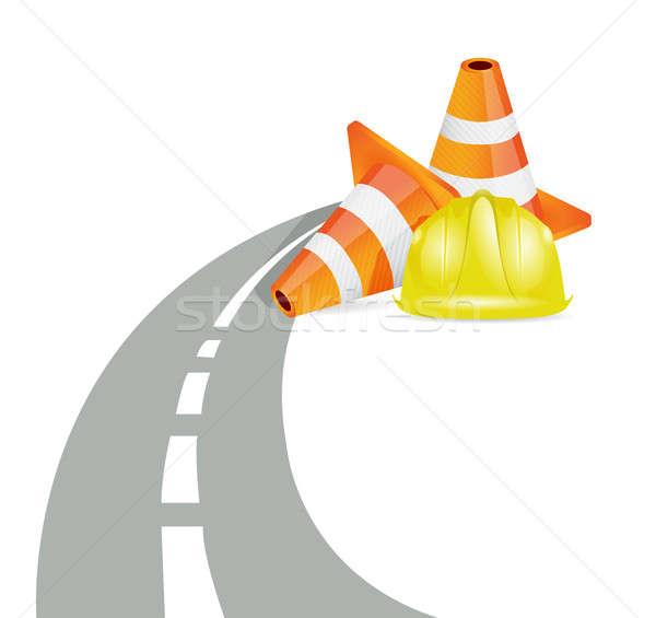 Road barrier illustration design Stock photo © alexmillos
