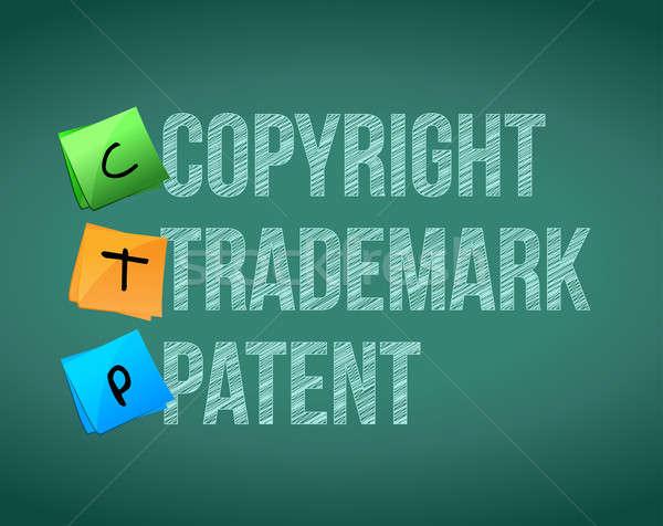 Szerzői jog védjegy szabadalom üzlet ipar ipari Stock fotó © alexmillos