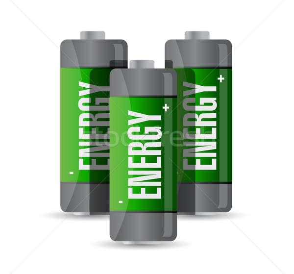 Energy batteries. illustration design Stock photo © alexmillos