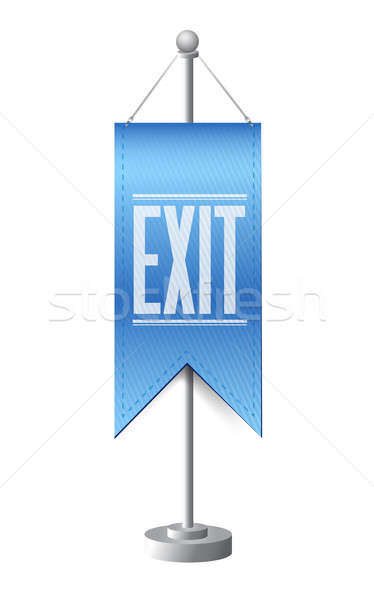 Exit standing banner sign illustration design  Stock photo © alexmillos