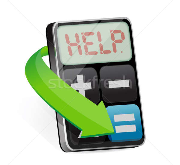 Calculator displays the word Help illustration  Stock photo © alexmillos