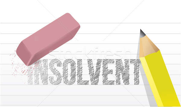 Stock photo: Erase insolvency concept illustration