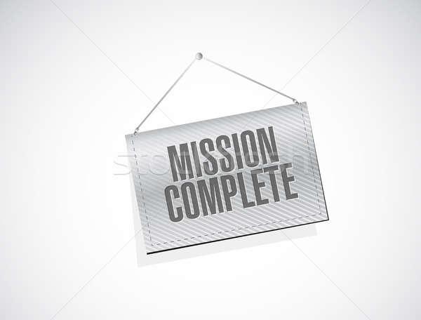Küldetés teljes szalag felirat illusztráció terv Stock fotó © alexmillos