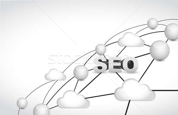 seo link network illustration over a white Stock photo © alexmillos