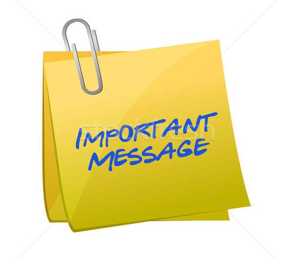 Importante mensajes ilustración diseno noticias signo Foto stock © alexmillos