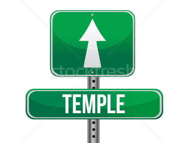 temple road sign Stock photo © alexmillos