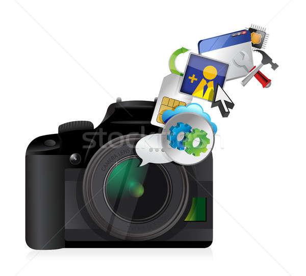 camera settings tools Stock photo © alexmillos
