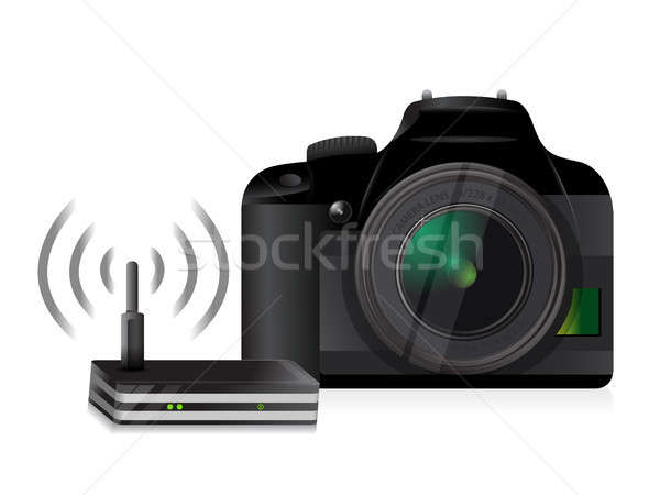 camera and router connection Stock photo © alexmillos