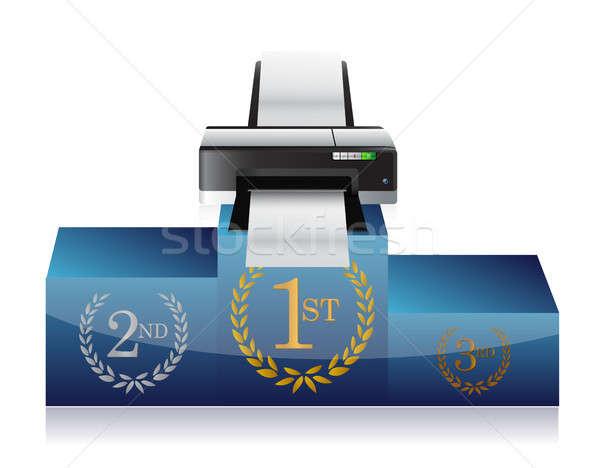 printer winners podium Stock photo © alexmillos