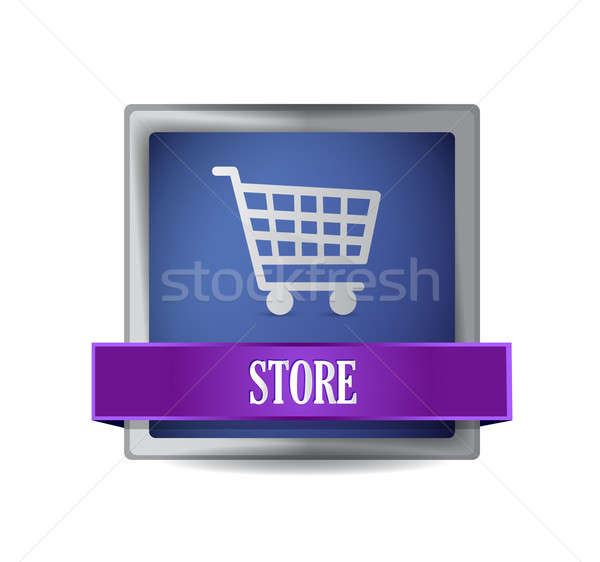 store E-commerce icon illustration design Stock photo © alexmillos