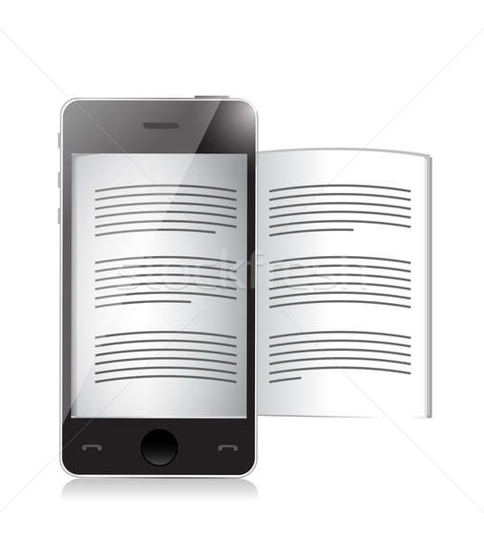 ebook reader. smartphone illustration design Stock photo © alexmillos