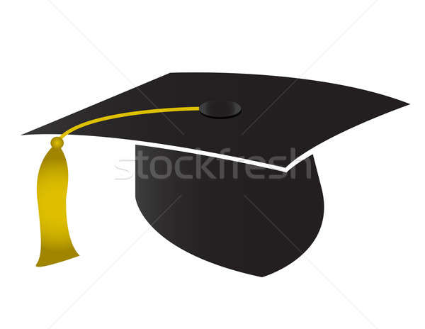Graduation cap isolated on white background. Stock photo © alexmillos