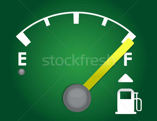 detailed gas gage illustration design isolated on a dark green b Stock photo © alexmillos