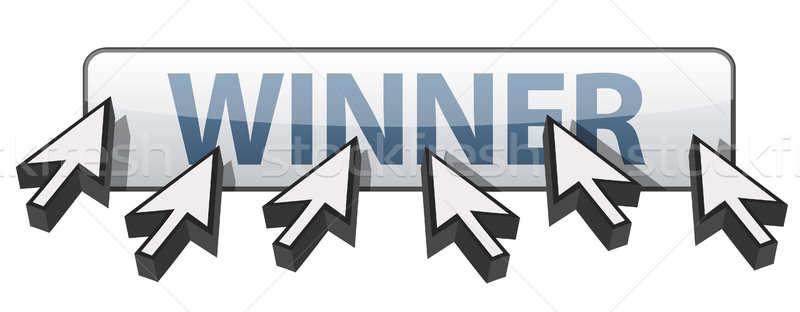 勝者 webボタン 実例 デザイン 技術 白地 ストックフォト © alexmillos