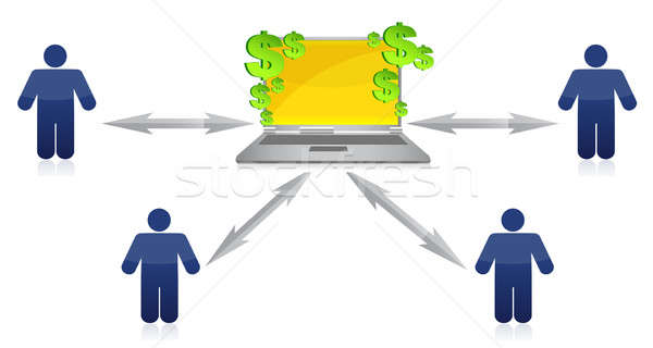 Wealth Distribution and online earnings illustration design  Stock photo © alexmillos