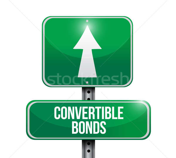 convertible bonds road sign illustrations design over white Stock photo © alexmillos