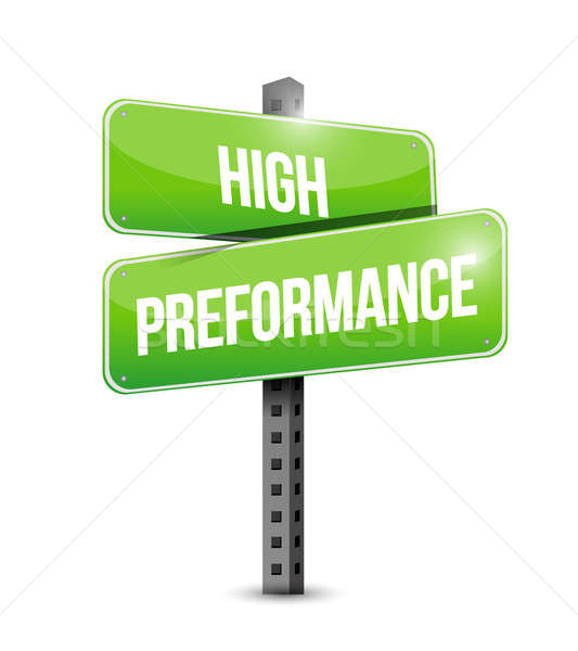 high performance road sign illustration design over a white back Stock photo © alexmillos