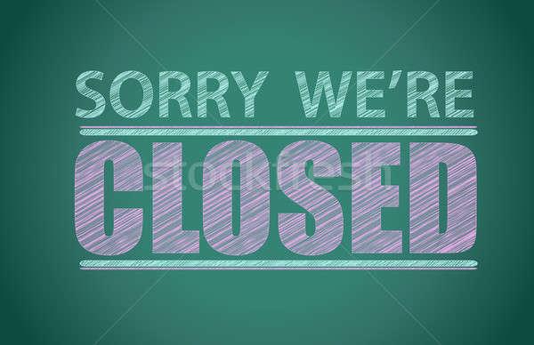 Siralmas zárva illusztráció terv grafikus üzlet Stock fotó © alexmillos