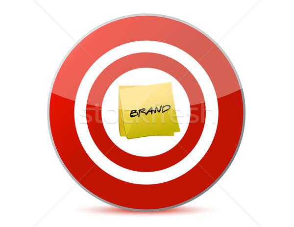 Célzás márka illusztráció fehér piros kommunikáció Stock fotó © alexmillos