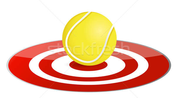 Tennis ball target concept illustration design over white Stock photo © alexmillos