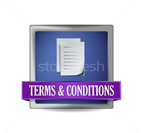 Terms and conditions illustration design over white Stock photo © alexmillos