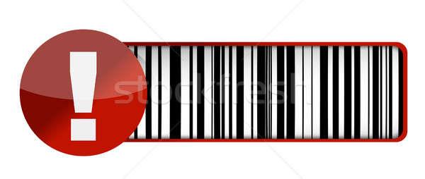 warning barcode UPC illustration design over a white background Stock photo © alexmillos
