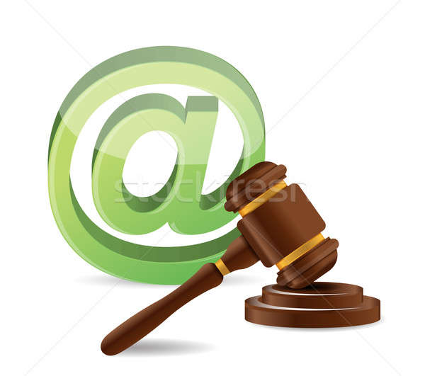 internet law concept illustration design over a white background Stock photo © alexmillos