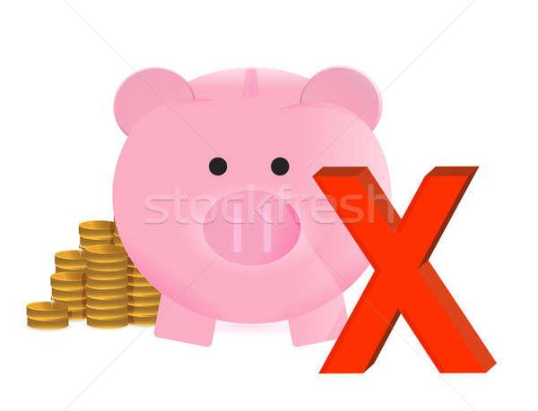 No ahorros ilustración diseno blanco dinero Foto stock © alexmillos