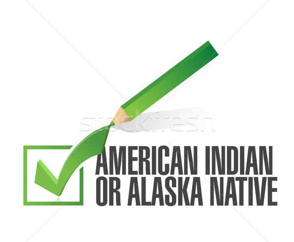 Gara american indian illustrazione design bianco computer Foto d'archivio © alexmillos