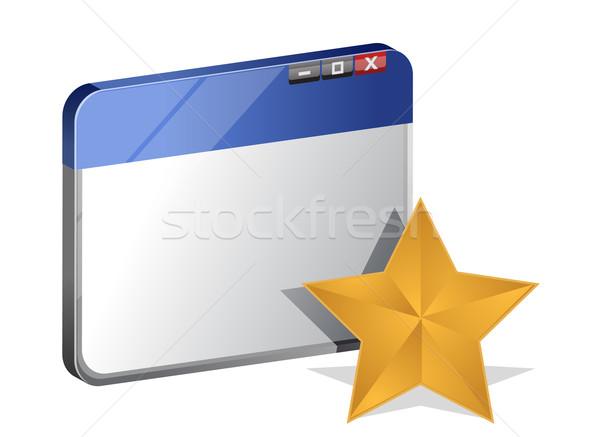 Przeglądarka ulubione technologii star cyfrowe informacji Zdjęcia stock © alexmillos