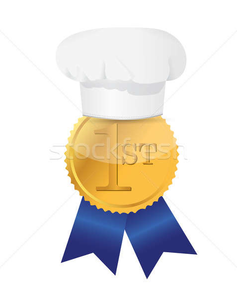 Cooking contest 1st place winner ribbon Stock photo © alexmillos