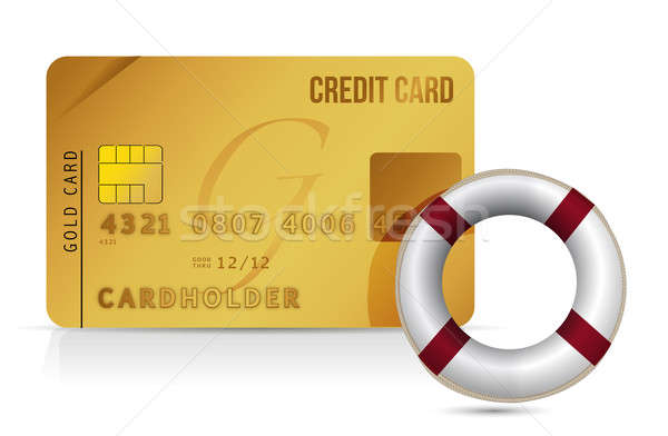 Credit card sos lifesaver illustration Stock photo © alexmillos