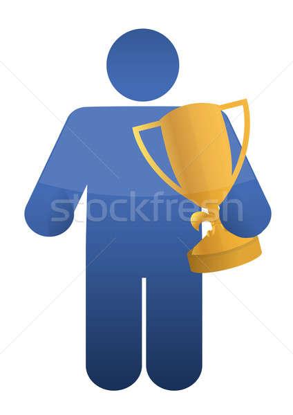 Ikona trofeum działalności projektu sportowe Zdjęcia stock © alexmillos