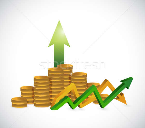 profits up and down arrow graph isolated Stock photo © alexmillos