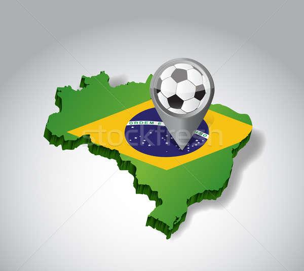 Brasile calcio illustrazione design bianco foresta Foto d'archivio © alexmillos