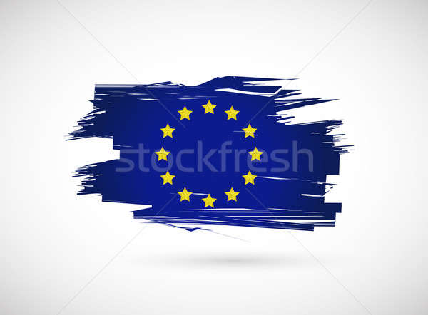 european ink flag illustration design Stock photo © alexmillos