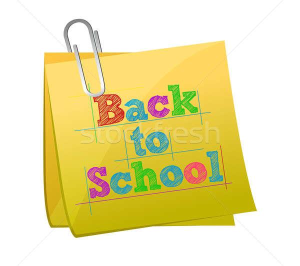 back to school post illustration design Stock photo © alexmillos