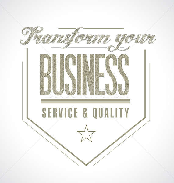 transform your business seal message. Stock photo © alexmillos