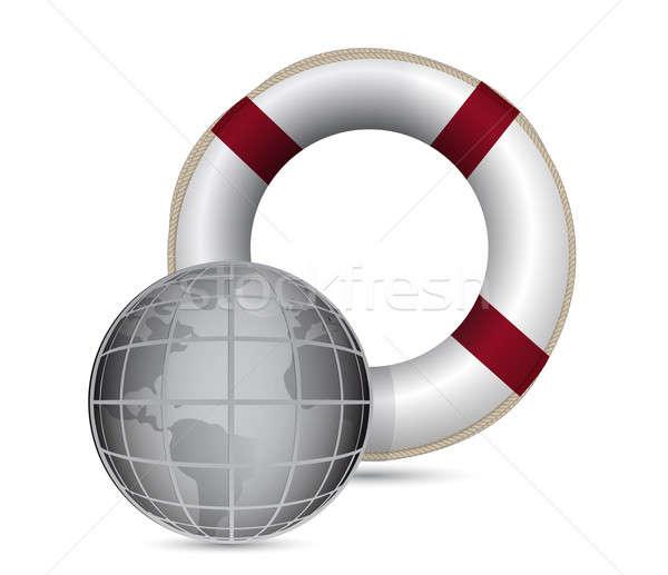 Mondial sauvetage illustration design Photo stock © alexmillos