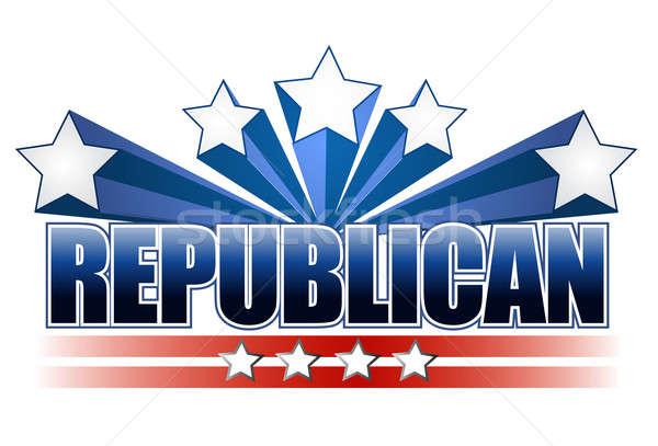 Republican sign Stock photo © alexmillos